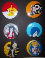 Anime Pin Set by Jen-the-Cat-desu