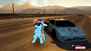 Rainbow Dash Speed Demon by EquestianRacer