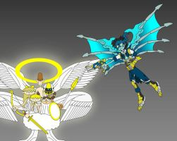 LifeForce vs Delightful Seraph by Redtriangle