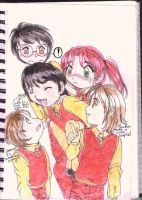 Marauders and Lily by hellishparadise
