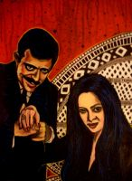 Gomez and Morticia by asamamoru