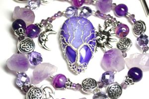 Purple Celtic Tree of Life Necklace by LoneWolfjewelry