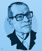 Naguib Mahfouz by monsteroftheid