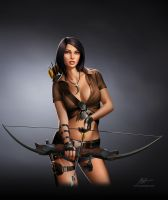 Jurassic Hunter. Archer Girl. by javieralcalde