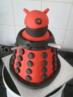 Dalek Cake by Rebeckington