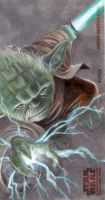 Yoda Clone Wars Card by kohse