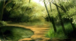 Quiet Forest - Speed Painting by Aliciane