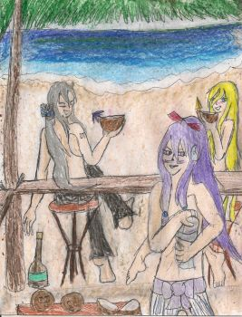 No shirt no shoes no problem Lily Gakupo and Haku by kingofthedededes73