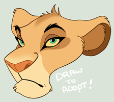 Draw to Adopt lioness by MalisTLK
