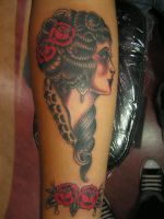 traditional girl by tattoosbysteve