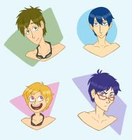 Swimmer Boys by NelmaThyria
