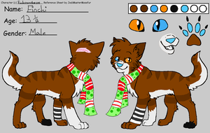 Finchi's reference sheet Autumn-Winter 2012 by MistiGears