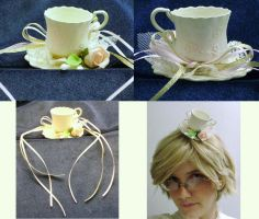 Jeune Rose Tiny Tea Cup Hat by pervyyaoifancier
