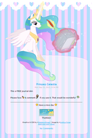 FREE Princess Celestia Journal Skin by Metterschlingel