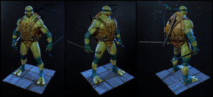 TMNT Leonardo - Turnaround by J-L-Art