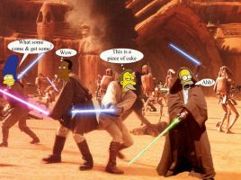 Jedi Simpson by Queen-Padme