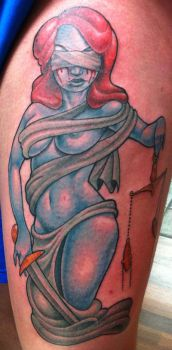 lady justice tattoo by michaelbrito