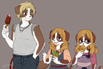 Santino n' his sisters by thestoneycoyote