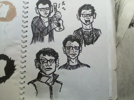 Rivers Cuomo Doodles by rhyod