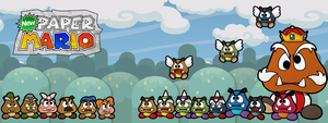 New Paper Mario Goombas by Nelde