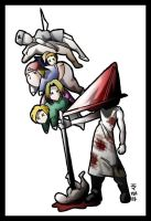 PYRAMID HEAD sish-kabob by macawnivore