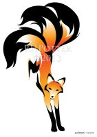Kitsune Frolic by RHPotter