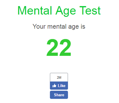 Mental Age Test by moonofheaven1