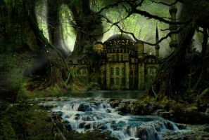 the temple in the forest by capottolo