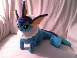 Vaporeon Crocheted by Kitorahoshi
