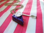 Cake and Fork Necklace by Origami-Joe