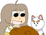 Bee and Puppycat with a roast turkey by MarcosLucky96