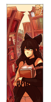 Blake in the Library [RWBY] [COM] by Keethy