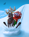 Winter Veil Druids for ZanaOzie by QueenOfCuttlefishes