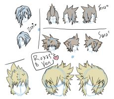 Kingdom Hearts hair 1 by soFallible
