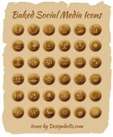 Baked Social Media Icons by Designbolts