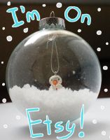Snowman in a bubble by Applefritter