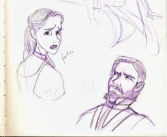 Les Mis Sketches 1 by marbri
