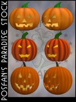Jack O'Lanterns 003 by poserfan-stock