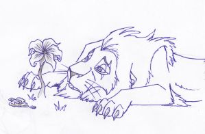 Scar's Wish - Sketch by Dandorcha