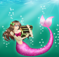(Commission) ~ Mermaid by vvaporeon