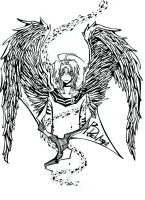 Black Angel_non colors by rabbittheking
