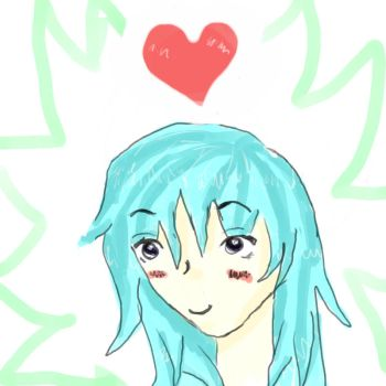 the blue heart by ChibiIce