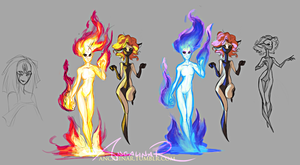 Types of flame by ancalinar