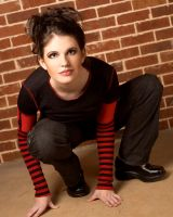 Red and Black Girl Stock 12 by kristyvictoria