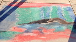 One Day Chalk Project by ezvegas