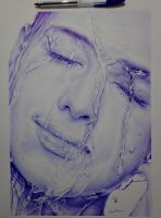 Ballpoint Girl by NabucoArt