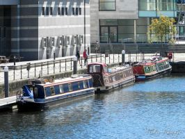 Boats at Clarence Dock by VickieDesigns