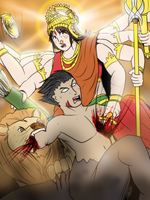 Durga VS Mahisha - Epic attack by VachalenXEON