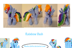 Rainbowdash Plushie by BlueAcrylicFox