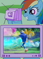 Rainbow Dash: Sonic Colors by HedgehogNinja94